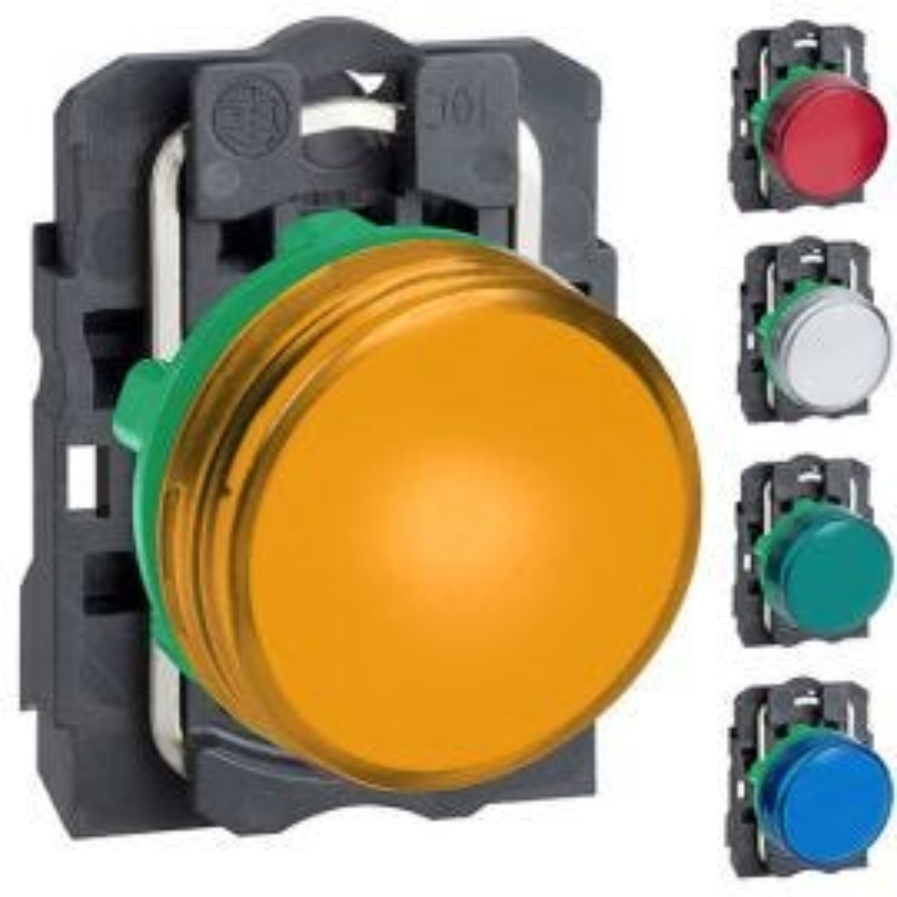 מנורות סימון לד מפלסטיק קומפלט XB5 230-240VAC