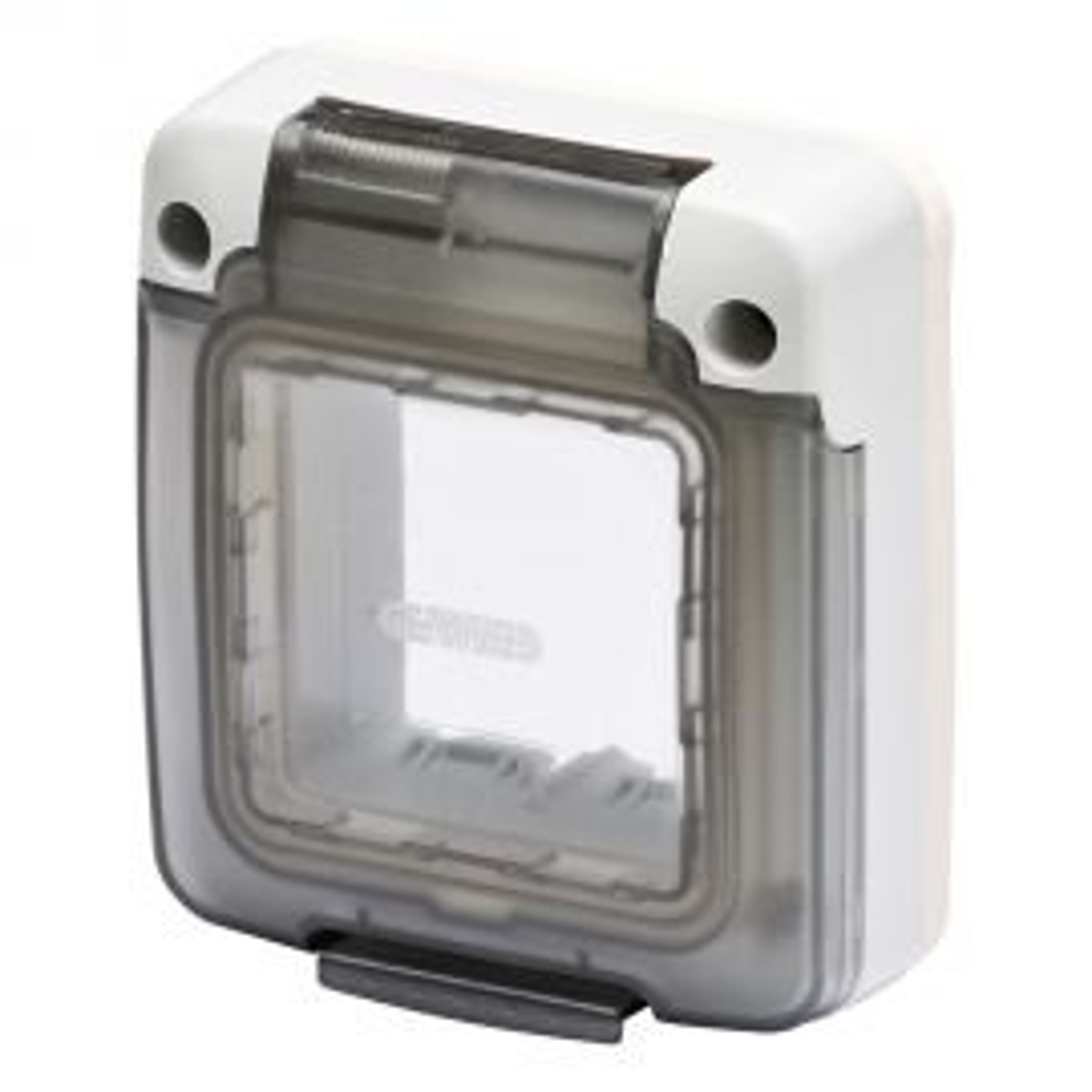 """מסגרת מוגנת מים 75X85 מ""""מ קשיחה לפנלים וקופסאות 2 מודולים"""
