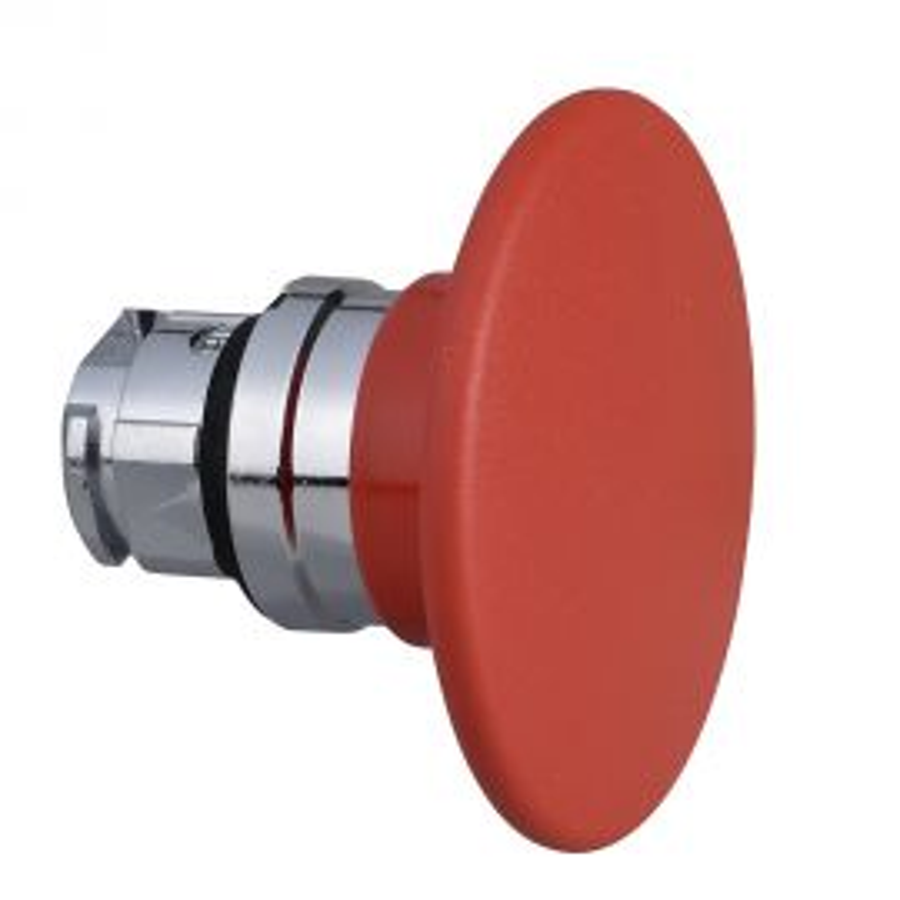 ראש לחצן פטרייה מתכתי קפיצי - אדום