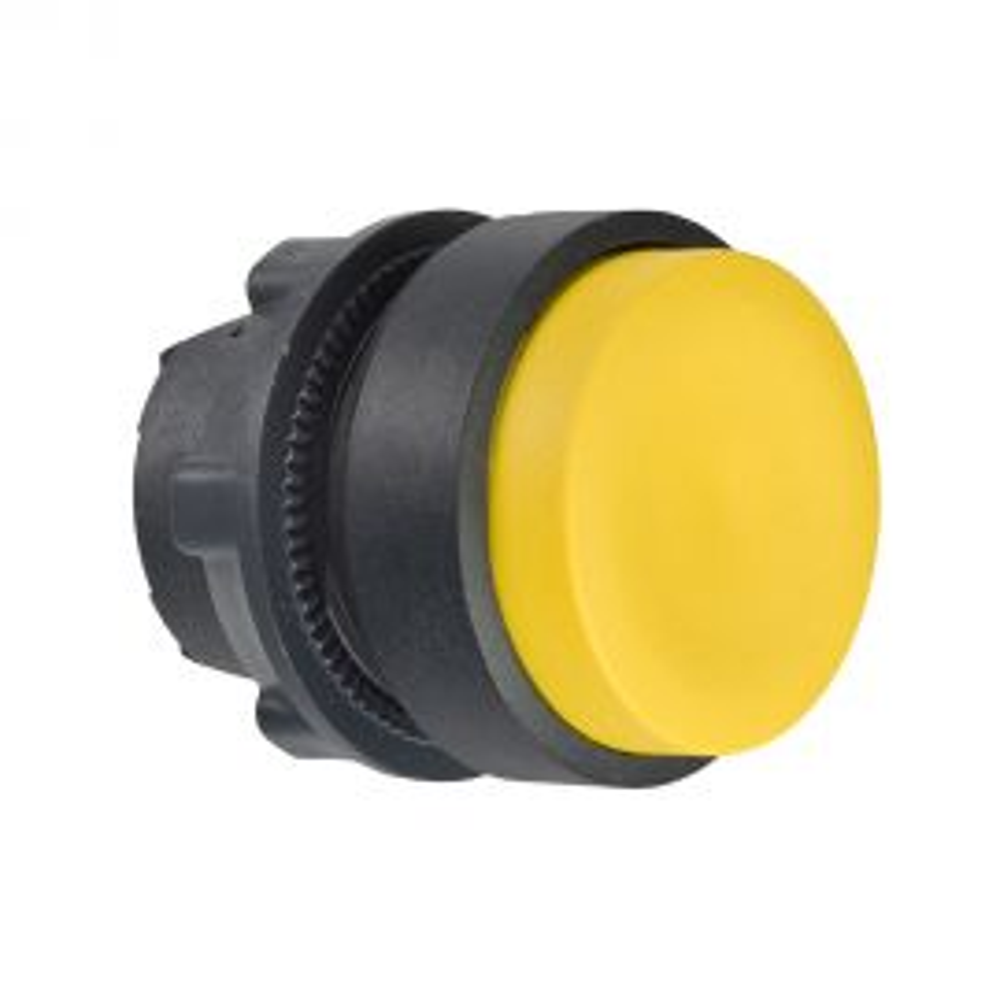 ראש לחצן עגול בולט מפלסטיק - צהוב