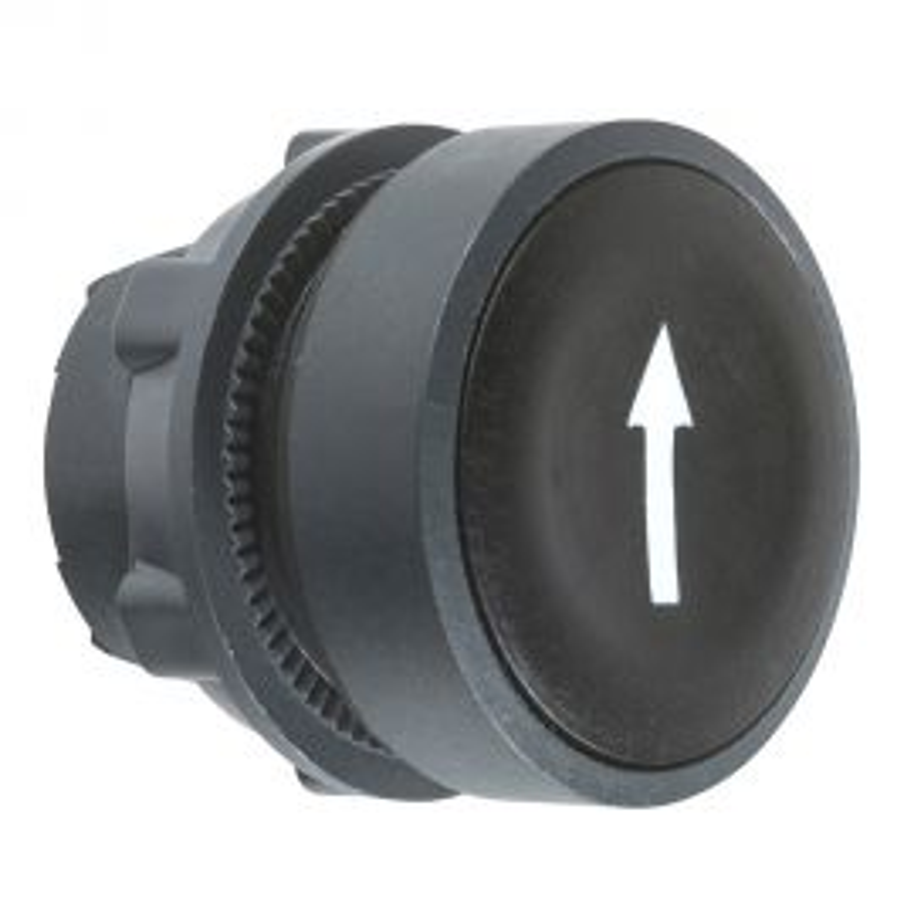 ראש לחצן שחור עם סימון חץ לבן ZB5AA335