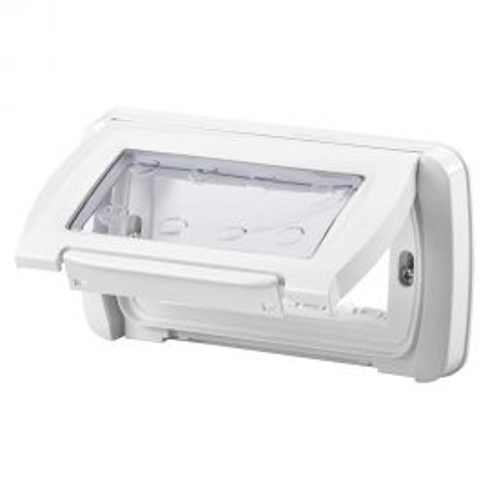 מסגרת סיסטם מוגנת מים 4 מודולים - לבן